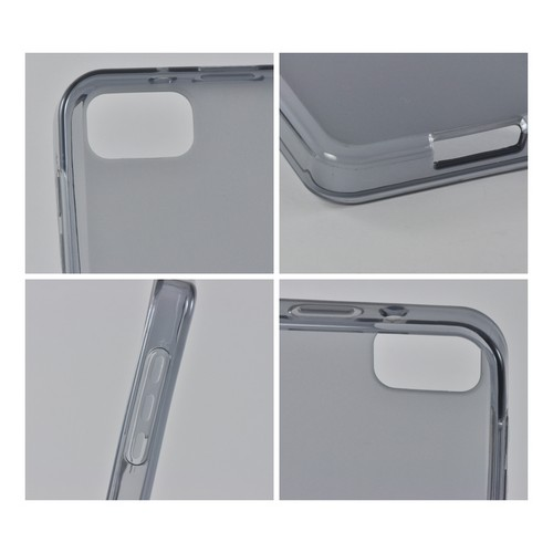 Smoke Matte Crystal Silicone Case w/ Polished Border for BlackBerry Z10
