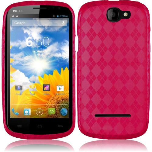 Argyle Pink Crystal Silicone TPU Skin for Blu Dash 4.5