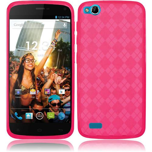 Argyle Pink Crystal Silicone TPU Skin for Blu Life Play