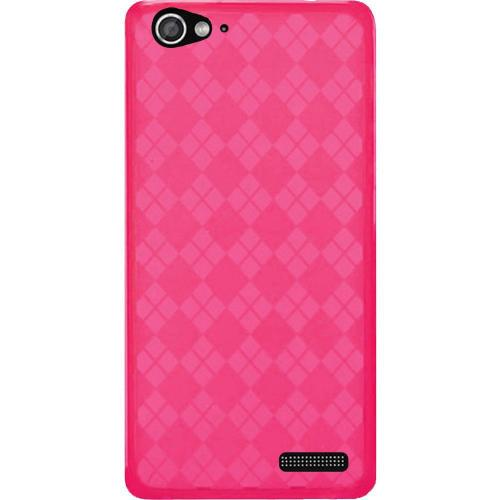 Argyle Hot Pink Crystal Silicone TPU Skin for Blu Life Pure