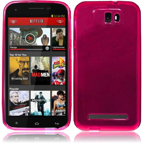 Hot Pink/ Frost Crystal Silicone TPU Skin for Blu Studio 5.5
