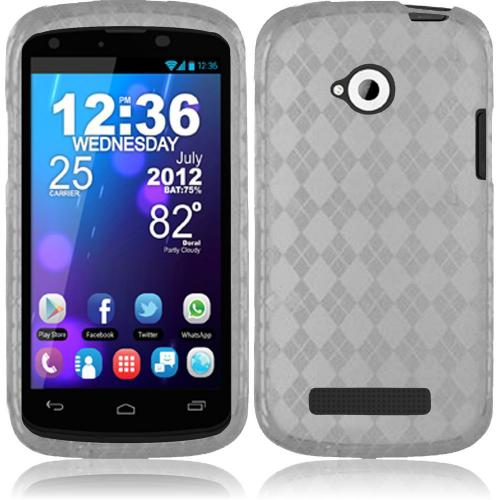 Argyle Clear Crystal Silicone TPU Skin for Blu Tank 4.5