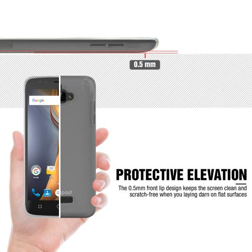 Coolpad Catalyst Case  REDshield [Clear] Slim & Flexible Anti-shock Crystal Silicone Protective TPU Gel Skin Case Cover