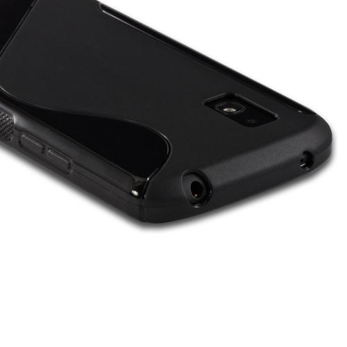 Black S Design Crystal Silicone Case for LG Google Nexus 4