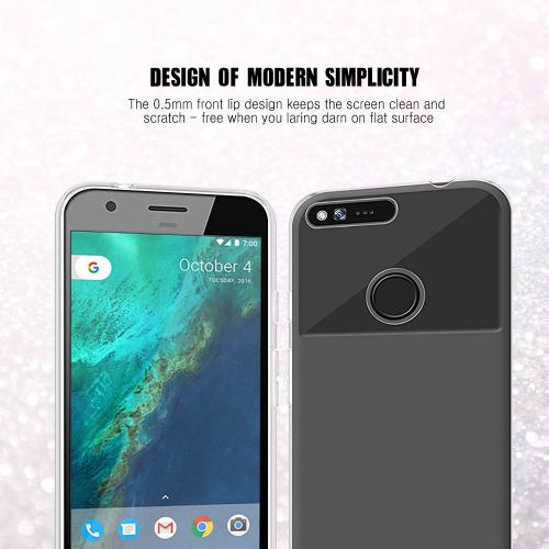 [Google Pixel XL] Case, REDshield [Black] Slim & Flexible Anti-shock Crystal Silicone Protective TPU Gel Skin Case Cover