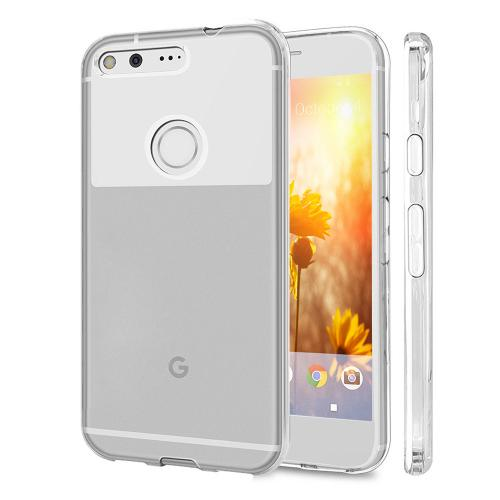 [Google Pixel XL] Case, REDshield [Clear] Slim & Flexible Anti-shock Crystal Silicone Protective TPU Gel Skin Case Cover