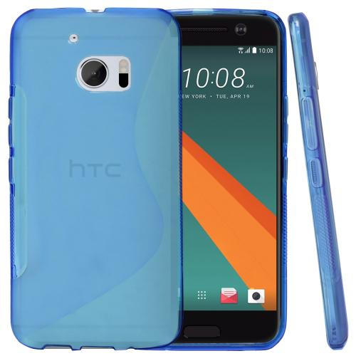 [HTC 10] Case, REDshield [Blue]  Slim & Flexible Anti-shock Crystal Silicone Protective TPU Gel Skin Case Cover with Travel Wallet Phone Stand