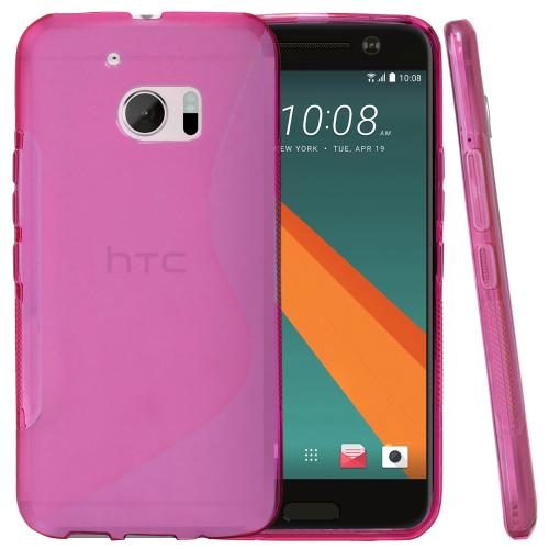 [HTC 10] Case, REDshield [Frost Hot Pink] Durable Crystal Silicone Protective TPU Gel Skin Case Cover