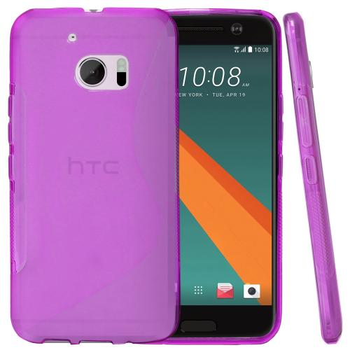 [HTC 10] Case, REDshield [Frost Purple] Durable Crystal Silicone Protective TPU Gel Skin Case Cover with Travel Wallet Phone Stand