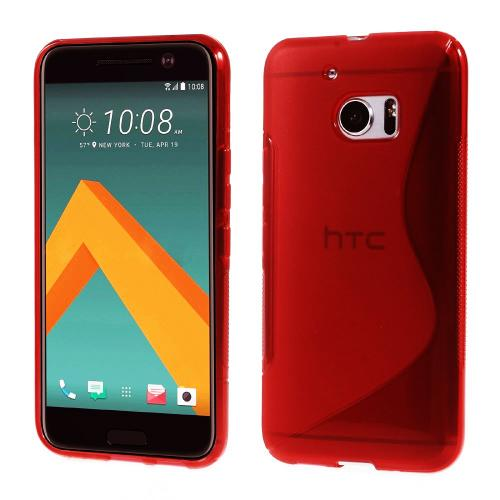 [HTC 10] Case, REDshield [Frost Red] Durable Crystal Silicone Protective TPU Gel Skin Case Cover with Travel Wallet Phone Stand