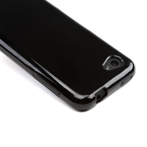 Black (Argyle Interior) Crystal Silicone Case for HTC First