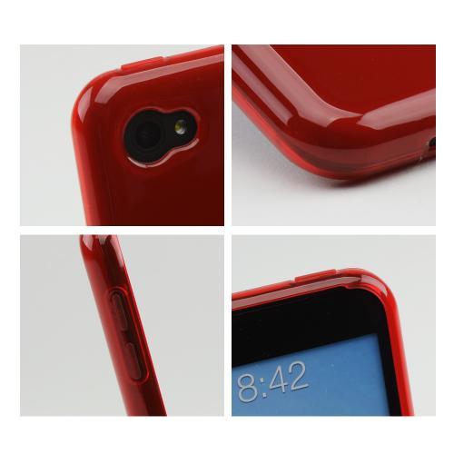 Frosted Red Crystal Silicone Case for HTC First