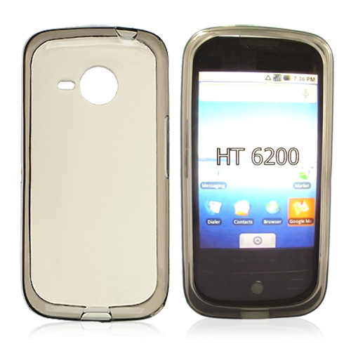 HTC Droid Eris 6200 Crystal Silicone Case - Transparent Smoke