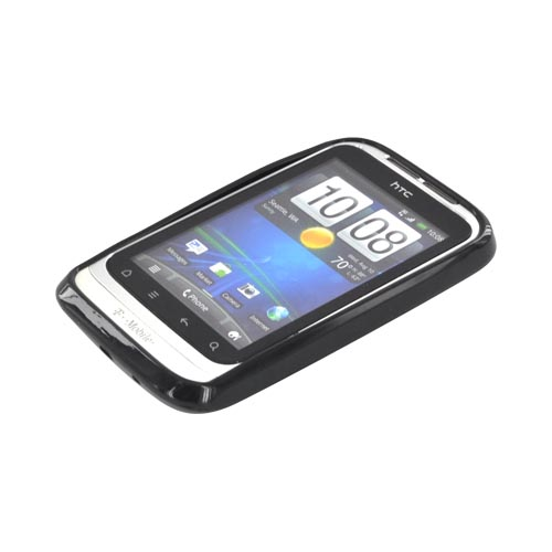 T-Mobile HTC Wildfire S Crystal Silicone Case - Black (Argyle Interior)