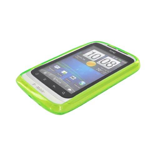 T-Mobile HTC Wildfire S Crystal Silicone Case - Argyle Neon Green