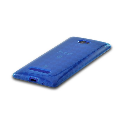 Blue Argyle Crystal Silicone Case for HTC 8X
