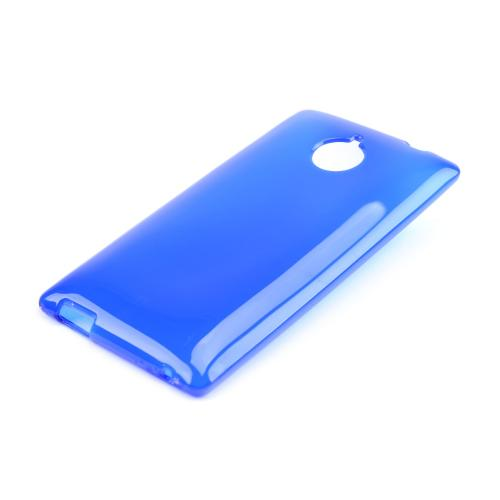 Blue/ Frost Crystal Silicone Skin Case for HTC 8XT