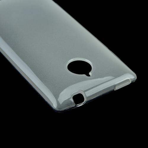 Clear/ Frost Crystal Silicone Skin Case for HTC 8XT