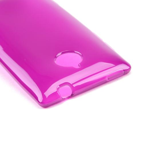 Magenta/ Frost Crystal Silicone Skin Case for HTC 8XT