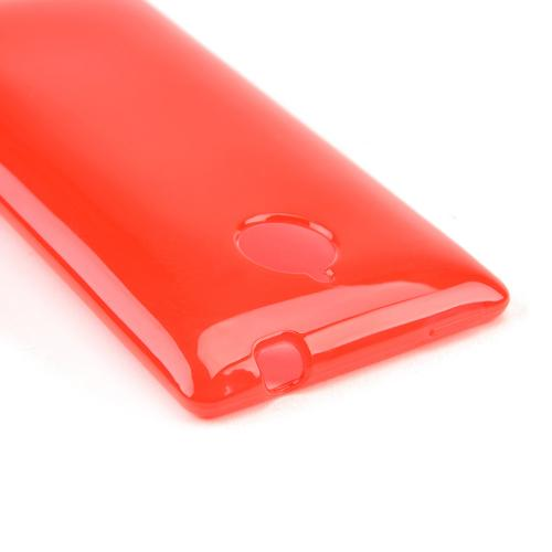 Red/ Frost Crystal Silicone Skin Case for HTC 8XT