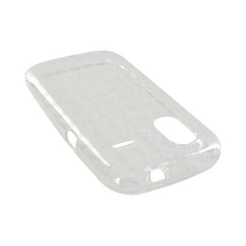 HTC Amaze 4G Crystal Silicone Case - Argyle Clear