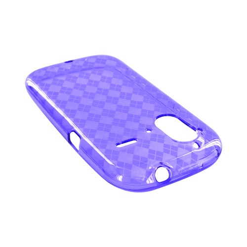 HTC Amaze 4G Crystal Silicone Case - Argyle Purple