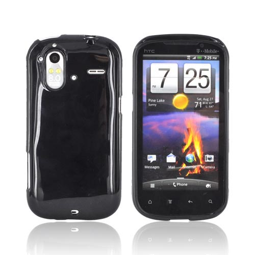 HTC Amaze 4G Crystal Silicone Case - Black (Argyle Interior)
