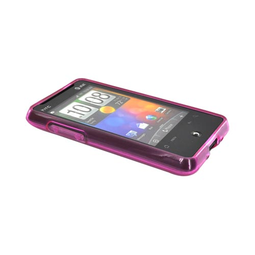 HTC Aria Crystal Silicone Case - Hot Pink