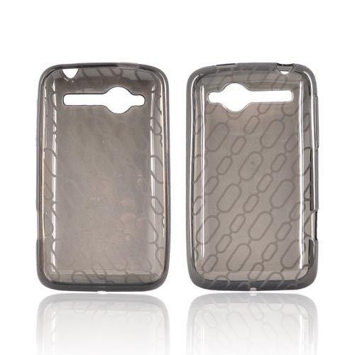 HTC Bee/Wildfire Crystal Silicone Case - Chain Design on Smoke