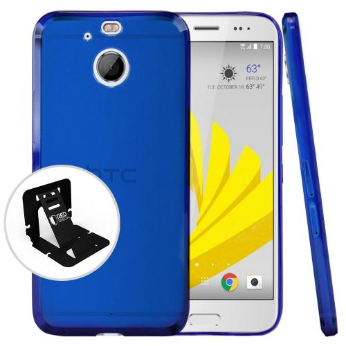 [HTC Bolt] Case, [Blue] Slim & Flexible Anti-shock Crystal Silicone Protective TPU Case