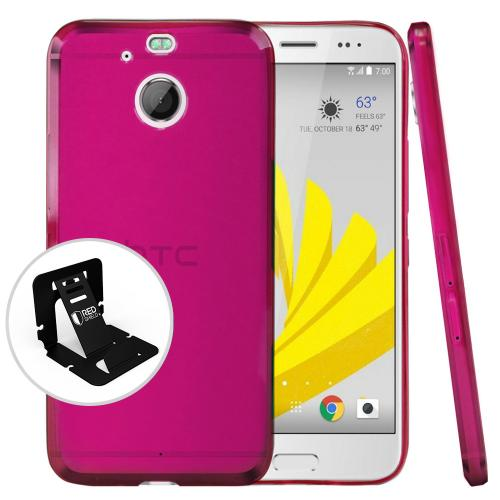 [HTC Bolt] Case, [Pink] Slim & Flexible Anti-shock Crystal Silicone Protective TPU Case