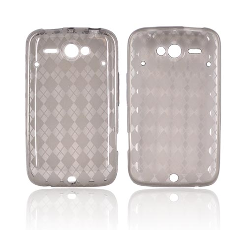 HTC Status Crystal Silicone Case - Argyle Smoke