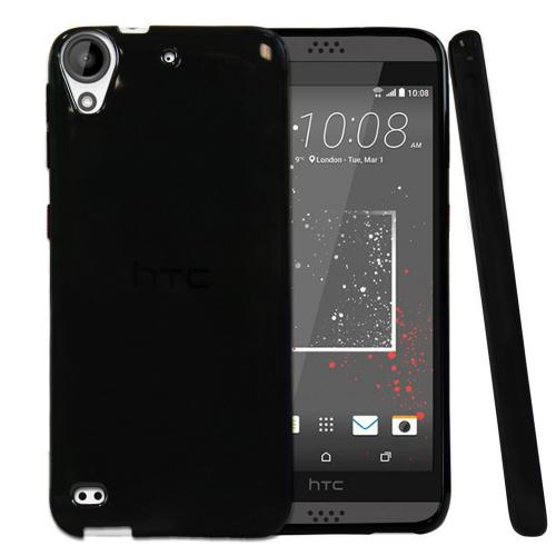 [HTC Desire 530] Case  REDshield [Black] Slim & Flexible Anti-shock Crystal Silicone Protective TPU Gel Skin Case Cover