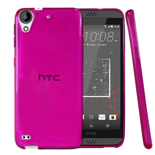 [HTC Desire 530] Case  REDshield [Hot Pink] Slim & Flexible Anti-shock Crystal Silicone Protective TPU Gel Skin Case Cover