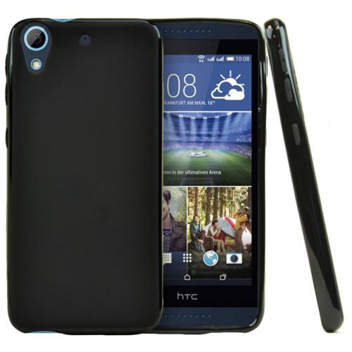 HTC Desire 626 Case, [Black] Slim & Flexible Crystal Silicone TPU Protective Case