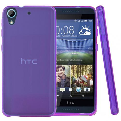 HTC Desire 626 Case, [Purple] Slim & Flexible Crystal Silicone TPU Protective Case