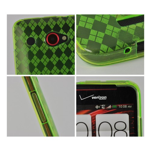 Argyle Green Crystal Silicone Case for HTC Droid DNA
