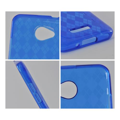 Argyle Blue Crystal Silicone Case for HTC Droid DNA