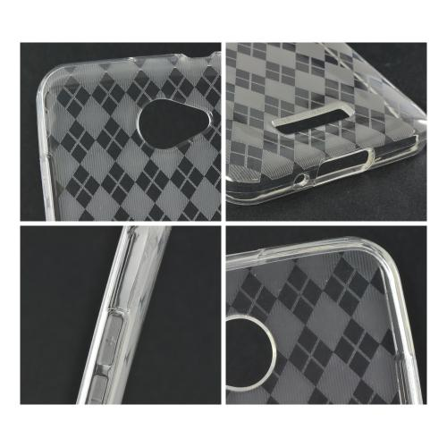 Argyle Clear Crystal Silicone Case for HTC Droid DNA