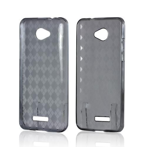Argyle Smoke Crystal Silicone Case for HTC Droid DNA