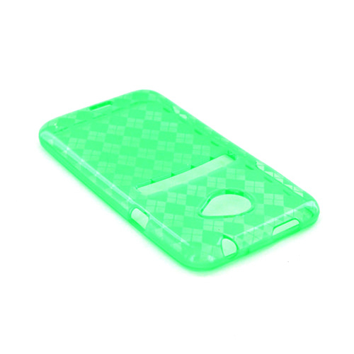 HTC EVO 4G LTE Crystal Silicone Case - Argyle Green