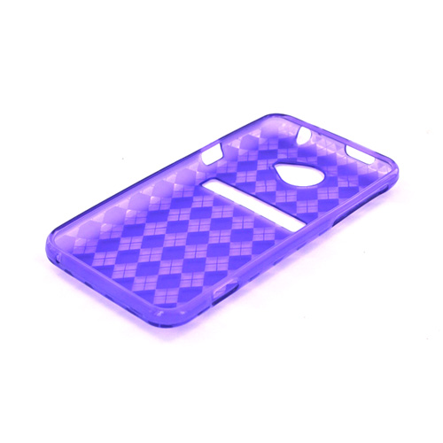 HTC EVO 4G LTE Crystal Silicone Case - Argyle Purple