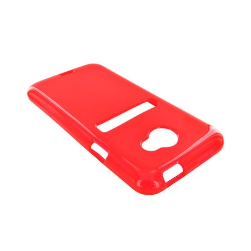 HTC EVO 4G LTE Crystal Silicone Case - Red