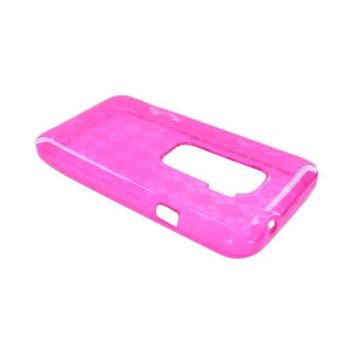HTC EVO 3D Crystal Silicone Case - Argyle Pink