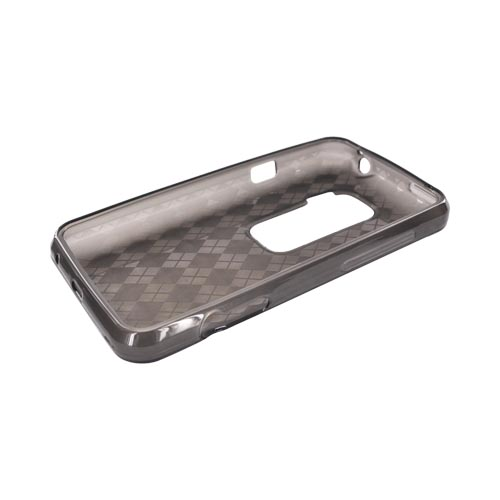 HTC EVO 3D Crystal Silicone Case - Argyle Smoke