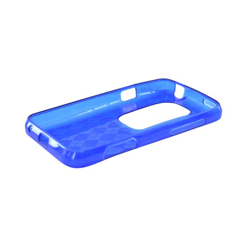 HTC EVO 3D Crystal Silicone Case - Blue Argyle