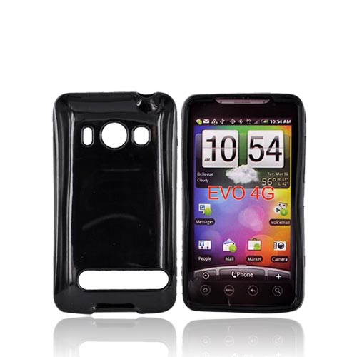 HTC Evo 4G Crystal Silicone Case - Black