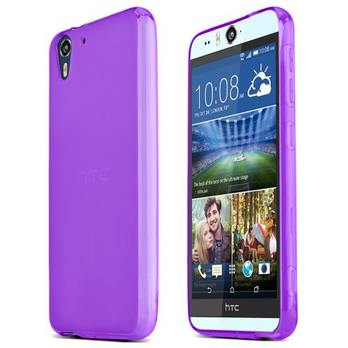 Htc Desire Eye Tpu Case [purple] Protective Bumper Case W/ Flexible Crystal Silicone Tpu Impact Resistant Material [Fitting Htc Desire Eye 2014 Case]