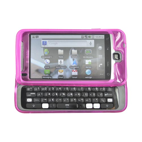 T-Mobile G2 Crystal Silicone Case - Argyle Design on Hot Pink