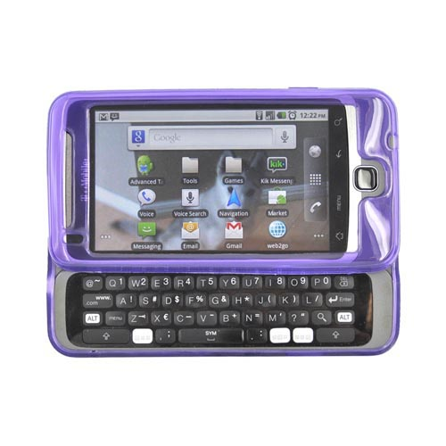 T-Mobile G2 Crystal Silicone Case - Argyle Design on Purple